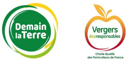 logo produits labellisés Vergers écoresponsables, Demain La Terre